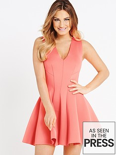 samantha-faiers-neon-scuba-seamed-dress