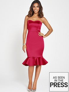 rochelle-humes-bandeau-bodycon-fishtail-dress