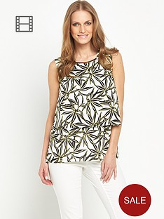 savoir-double-layer-printed-blouse