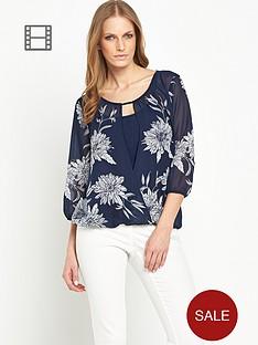 savoir-floral-printed-wrap-front-top