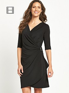 savoir-buckle-wrap-dress