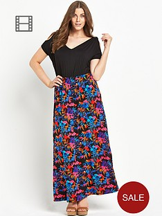 so-fabulous-cold-shoulder-tropical-print-maxi-dress
