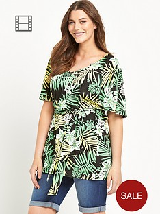 so-fabulous-jersey-belted-tropical-print-kaftan