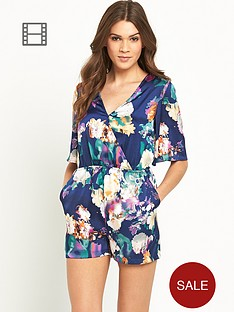 girls-on-film-short-sleeved-wrap-abstract-floral-playsuit