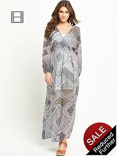 glamorous-long-sleeved-maxi-dress