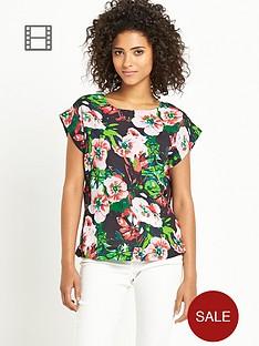 south-floral-print-boxy-top