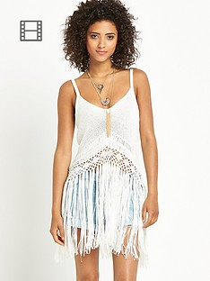 love-label-fringed-crochet-open-knit-vest