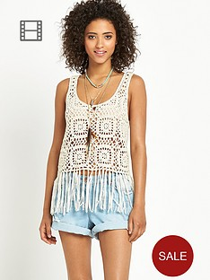 south-crochet-fringed-vest-top-cream