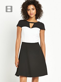 south-petite-mono-skater-dress