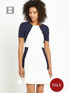 south-petite-flippy-colourblock-dress