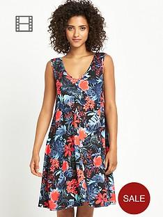 south-tropical-print-smock-dress