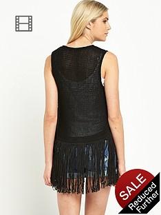 south-fringed-waistcoat-black