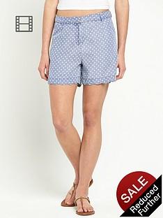 love-label-blouson-polka-dot-shorts