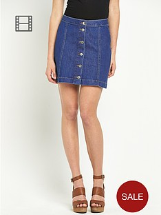 south-button-down-mini-skirt-stonewash