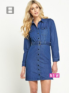 south-belted-denim-dress