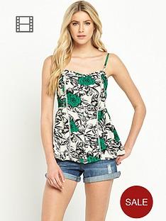 south-ladder-stitch-floral-print-cami