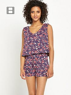 south-very-printed-tiered-playsuit