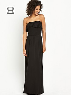 south-petite-frill-bandeau-maxi-dress