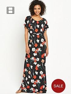 south-petite-poppy-print-maxi-dress