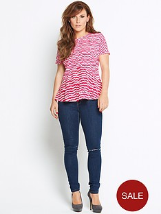 coleen-mixed-fabric-heart-print-top