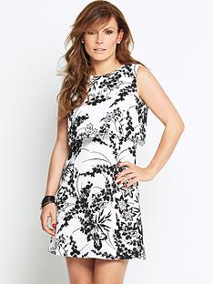 coleen-overlay-cutout-back-printed-dress