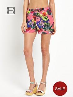 lipsy-tropical-print-shorts