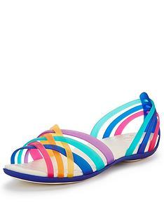 crocs-huarache-flat-sandals