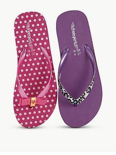freespirit-trixie-girls-flip-flops-2-pack