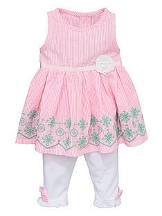 ladybird-girls-seersucker-stripe-dress-and-leggings-set-2-piece