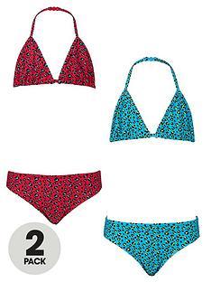 freespirit-girls-animal-print-triangle-bikinis-2-pack