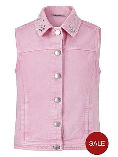 freespirit-girls-embellished-denim-waistcoat
