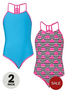 freespirit-girls-strappy-back-swimsuits-2-pack
