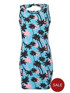 freespirit-girls-palm-print-bodycon-dress