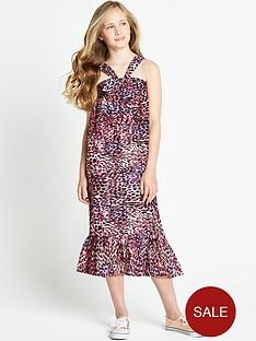 freespirit-girls-leopard-frilled-hem-midi-dress