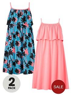freespirit-girls-neon-frill-dresses-2-pack