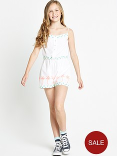 freespirit-girls-neon-and-white-embroidered-playsuit