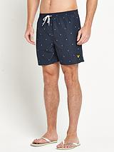 Mens Micro Split Square Swim Shorts