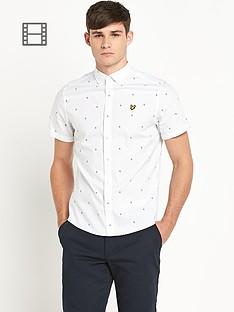 lyle-scott-mens-short-sleeve-micro-split-square-poplin-shirt