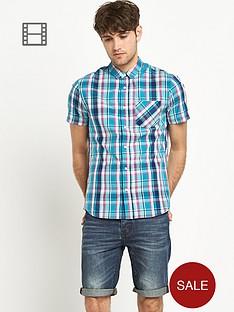 goodsouls-mens-green-check-short-sleeve-shirt