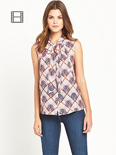 definitions-sleeveless-fan-print-pussy-bow-blouse