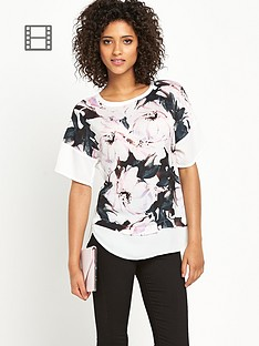 definitions-floral-abstract-woven-front-jersey-back-top