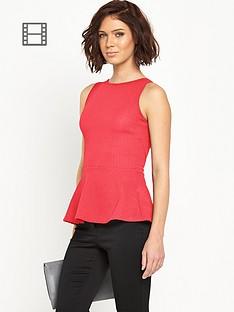 definitions-textured-jersey-open-back-peplum-top