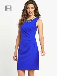 savoir-side-gather-ponte-dress