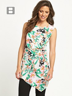 savoir-dipped-front-printed-top