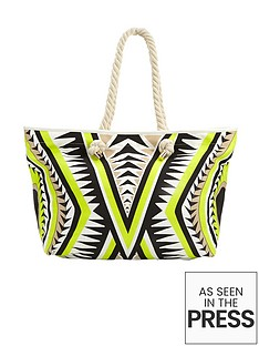 tribal-print-beach-bag