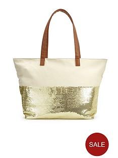 sequin-embellished-canvas-beach-bag