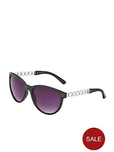 chain-arm-detail-cats-eye-sunglasses