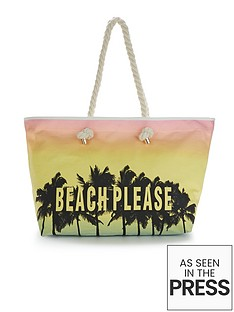 beach-please-slogan-beach-bag