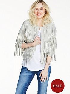 fearne-cotton-suede-fringe-crop-jacket