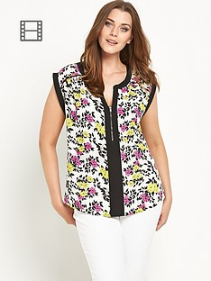 so-fabulous-zip-front-cap-sleeved-blouse